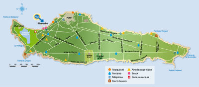Ste Marguerite island map